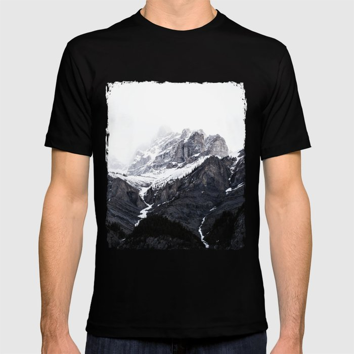 Moody snow capped Mountain Peaks - Nature Photography T-shirt