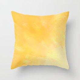 Golden Sunburst Throw Pillow