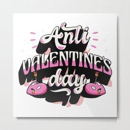 Anti-Valentine's Day Heart With Arrow Metal Print