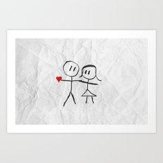 Marry me  Art Print