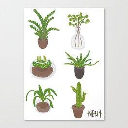 Simple Plants Canvas Print