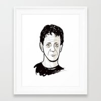 lou reed Framed Art Prints featuring Lou Reed by BTillustration