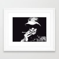 hunter s thompson Framed Art Prints featuring Hunter S Thompson by Be Sound Art