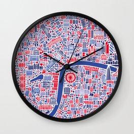London City Map Poster Wall Clock