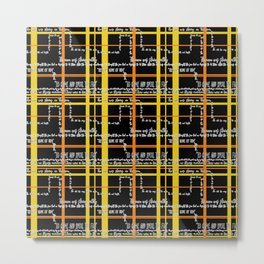 The Walrus And The Carpenter - A text based pattern Metal Print