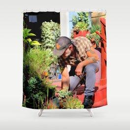The Gardener Next Door Shower Curtain
