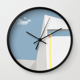 modern rapunzel Wall Clock