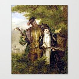 Tudor Romance - Henry VIII and Anne Boleyn hunting Canvas Print