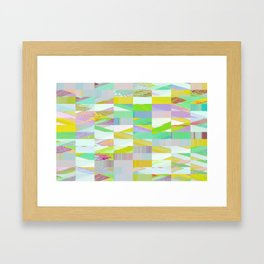 Pixel Dust Muted colors Framed Art Print