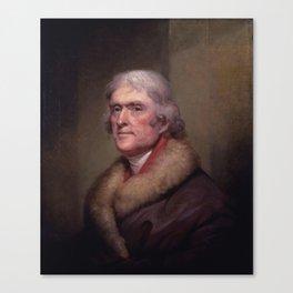 President Thomas Jefferson Canvas Print