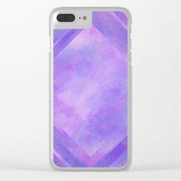 Mosaic Tile // Violet Watercolour Clear iPhone Case