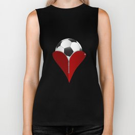 Love Soccer Biker Tank