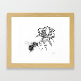 Bumblebee and Lily on a Magical Summer's Day Framed Art Print