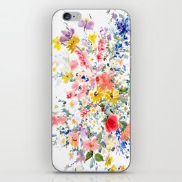 garden flowers iPhone Skin