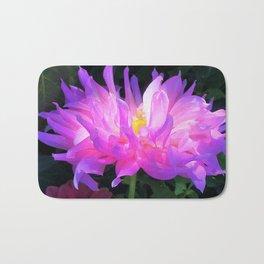 Stunning Pink and Purple Cactus Dahlia Bath Mat