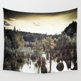 Dead Lakes Grunge Style Wall Tapestry