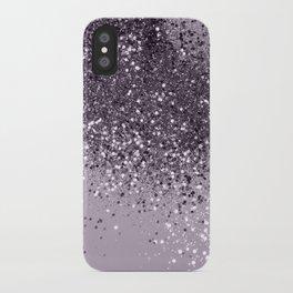 Sparkling Lavender Lady Glitter #2 #shiny #decor #art #society6 iPhone Case