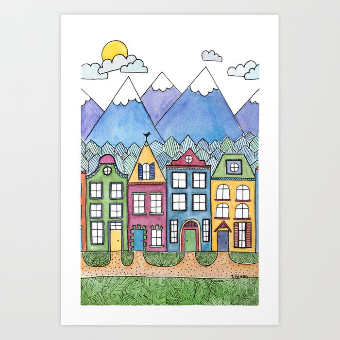 The Village Art Print