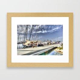 Yalikavak Marina Bodrum Framed Art Print