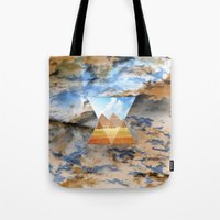 egypt Tote Bags featuring EGYPT by sametsevincer