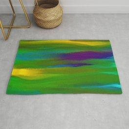 Green Mardi Gras Abstract Rug