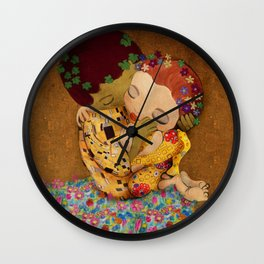 The Kiss Wall Clock