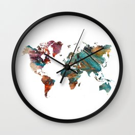 Map of the World triangle Wall Clock