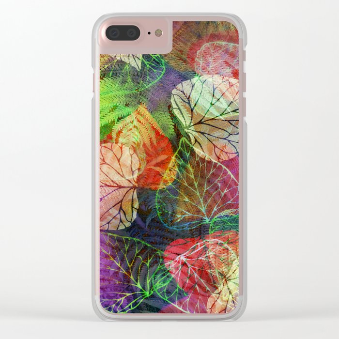 Forest Flora 2 Clear iPhone Case