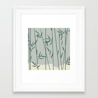 bamboo Framed Art Prints featuring Bamboo by Rceeh