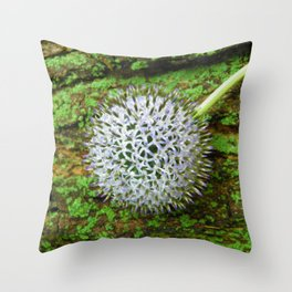 Globe Thistle. Throw Pillow