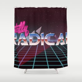Totally Radical! Shower Curtain