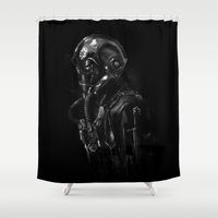pilot Shower Curtains featuring Pilot 01 by Rafal Rola
