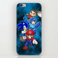 super smash bros iPhone & iPod Skins featuring Super Smash Bros  by Blaze-chan