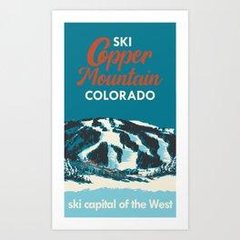 Ski Copper Mountain Vintage Poster Art Print
