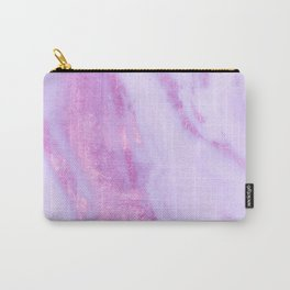 Pink Marble - Shimmery Magenta Gold Marble Metallic Carry-All Pouch