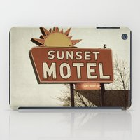 fargo iPad Cases featuring Sunset Motel by angela haugland