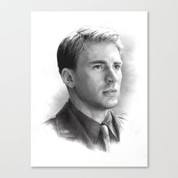 steve rogers Canvas Prints featuring Steve Rogers  by akasatana0807