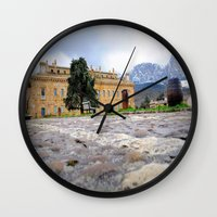 castle Wall Clocks featuring castle by  Agostino Lo Coco