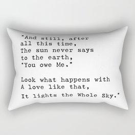 Hafez quote Rectangular Pillow