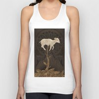 vegetable Tank Tops featuring Vegetable Lamb of Tartary by Jessica Roux