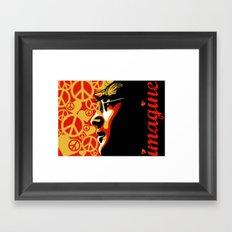 John Lennnon Imagine  Framed Art Print