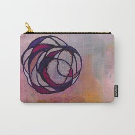 Pink Spiral Carry-All Pouch