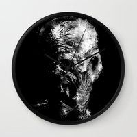 silent hill Wall Clocks featuring Silent by zerobriant