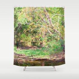 Hickory Ridge Pond Shower Curtain