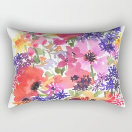 Summer's Country Garden Rectangular Pillow