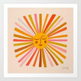 Sunshine – Retro Ochre Palette Art Print