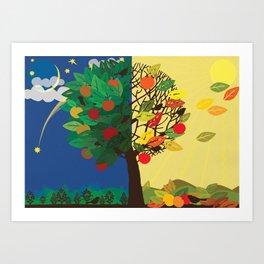 """""""Seasons"""" Summer-Autumn Art Print"""