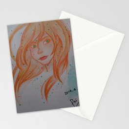 girl 2 Stationery Cards