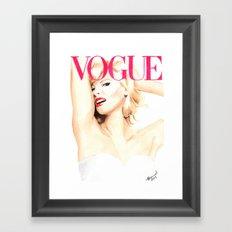 Linda Evangelista. Vogue. Fashion Illustration Framed Art Print