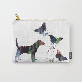 Beagle And Butterflies Carry-All Pouch